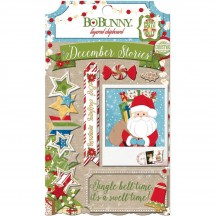 Bo Bunny Dear Santa Self Adhesive Glittered Layered Chipboard 18409078