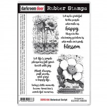 Darkroom Door Botanical Script Cling Foam Mounted Rubber Stamps - DDRS186