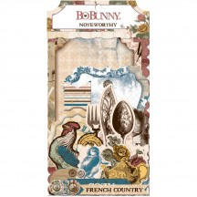 Bo Bunny Provence Noteworthy Die-Cut Journaling & Accents Cardstock 18613123