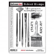 Darkroom Door Artist Brushes Cling Foam Mounted Rubber Stamps - DDRS187