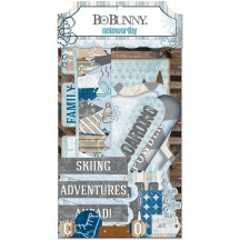 Bo Bunny Whiteout Noteworthy Die-Cut Journaling & Accents Cardstock 19113234