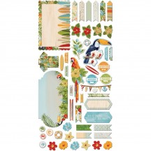 Bo Bunny Beach Therapy Noteworthy Die-Cut Journaling & Accents Cardstock 19313322