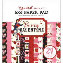 "Echo Park Be My Valentine 6""x6"" Double-Sided Paper Pad 24 Sheets BMV197023"