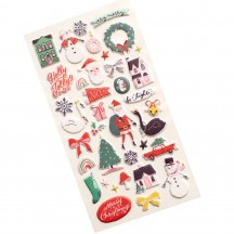 Crate Paper Hey, Santa Christmas Puffy Icon Stickers 373218