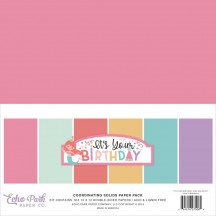 "Echo Park It's Your Birthday Girl 12""x12"" Solids Paper Kit TBG200015"
