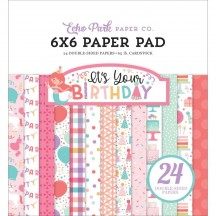 "Echo Park It's Your Birthday Girl 6""x6"" Double-Sided Paper Pad 24 Sheets TBG200023"
