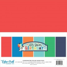 "Echo Park It's Your Birthday Boy 12""x12"" Solids Paper Kit YBB201015"