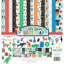 "Echo Park It's Your Birthday Boy 12""x12"" Collection Kit YBB201016"