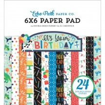 "Echo Park It's Your Birthday Boy 6""x6"" Double-Sided Paper Pad 24 Sheets YBB201023"