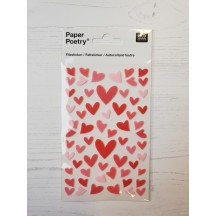 Rico Design Paper Poetry Red & Pink Felt Heart Stickers 08792.70.17