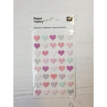 Rico Design Paper Poetry Patterned Heart Stickers 08792.70.15