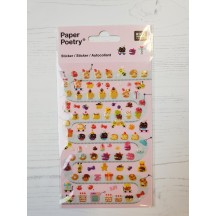 Rico Design Paper Poetry Sweet Biscuits Puffy Stickers 08792.71.09