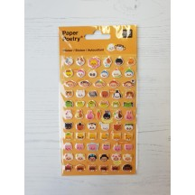 Rico Design Paper Poetry Laughing Faces Puffy Stickers 08792.71.13
