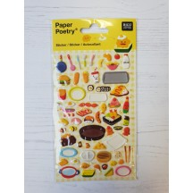 Rico Design Paper Poetry Food Puffy Stickers 08792.71.14