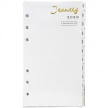Webster's Pages Personal Planner 2020 12 Month & Week Calendar Inserts P1041