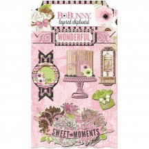 Bo Bunny Sweet Moments Self Adhesive Glittered Layered Chipboard 20409687