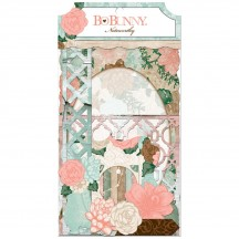 Bo Bunny Felicity Noteworthy Die-Cut Journaling & Accents Cardstock 20713801