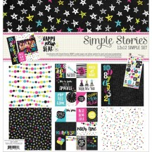 "Simple Stories Happy New Year 12""x12"" Simple Sets Collection Kit 2075"