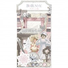 Bo Bunny Winter Wishes Noteworthy Die-Cut Journaling & Accents Christmas Cardstock 20913841