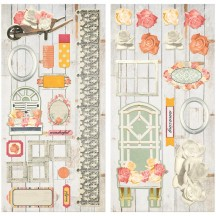 "Bo Bunny Aryia's Garden 12""x12"" Self Adhesive Chipboard Accents 21015895"