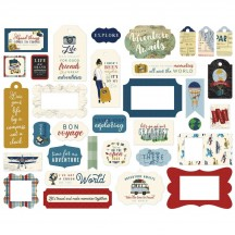 Echo Park Scenic Route Frames & Tags Ephemera Die Cut Cardstock Pieces SR212025