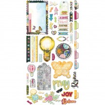 Bo Bunny Faith Noteworthy Die-Cut Journaling & Accents Cardstock 21113916
