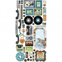 Bo Bunny Life In Color Noteworthy Die-Cut Journaling & Accents Cardstock 21313965