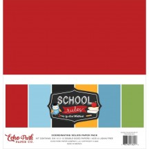 "Echo Park School Rules 12""x12"" Solids Paper Kit SCR215015"