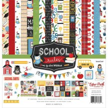 "Echo Park School Rules 12""x12"" Collection Kit SCR215016"