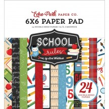 "Echo Park School Rules 6""x6"" Double-Sided Paper Pad SCR215023"