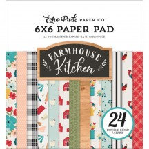 "Echo Park Farmhouse Kitchen 6""x6"" Double-Sided Paper Pad FK216023"
