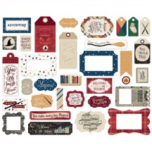 Echo Park Witches & Wizards Frames & Tags Ephemera Die Cut Cardstock Pieces WAW217025