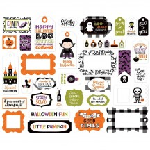 Echo Park I Love Halloween Tags & Frames Ephemera Die Cut Cardstock Pieces ILH218025