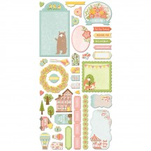 Bo Bunny Weekend Adventures Noteworthy Die-Cut Journaling & Accents Cardstock 21813070