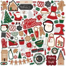 "Echo Park A Gingerbread Christmas 12""x12"" Element Shape Stickers GC221014"