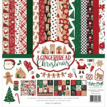 "Echo Park A Gingerbread Christmas 12""x12"" Collection Kit GC221016"