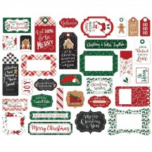 Echo Park A Gingerbread Christmas Frames & Tags Ephemera Die Cut Cardstock Pieces GC221025