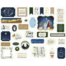 Echo Park Silent Night Christmas Ephemera Die Cut Cardstock Pieces SN222024