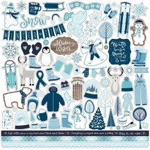"Echo Park Winter Magic 12""x12"" Element Shape Stickers WIM223014"