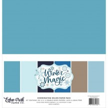 "Echo Park Winter Magic 12""x12"" Solids Paper Kit WIM223015"