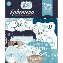 Echo Park Winter Magic Ephemera Die Cut Cardstock Pieces WIM223024