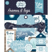 Echo Park Winter Magic Frames & Tags Ephemera Die Cut Cardstock Pieces WIM223025