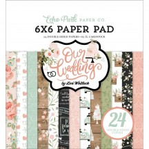 "Echo Park Our Wedding 6""x6"" Double-Sided Paper Pad OW224023"