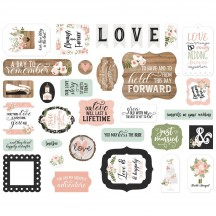 Echo Park Our Wedding Ephemera Die Cut Cardstock Pieces OW224024