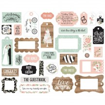 Echo Park Our Wedding Frames & Tags Ephemera Die Cut Cardstock Pieces OW224025