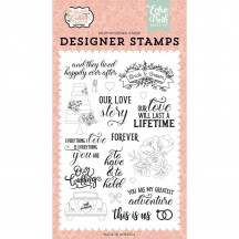 Echo Park Our Wedding Our Love Story Clear Stamp Set OW224045