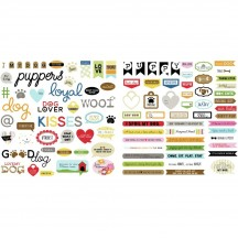 Bella Blvd Cooper Dog Words Die-Cut Cardstock Ephemera 2248