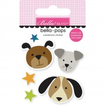 Bella Blvd Cooper Dog Pups Bella-Pops Dimensional Sticker 2256