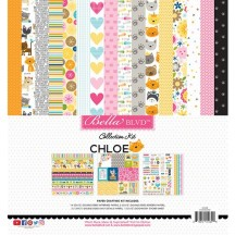 "Bella Blvd Chloe Cat 12""x12"" Paper Crafting Kit 2286"