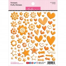 Bella Blvd Besties Trinkets Orange Puffy Stickers BB2289